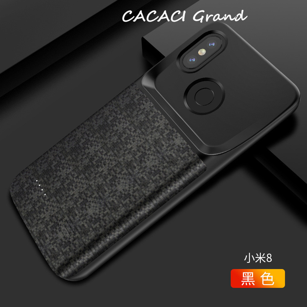 For Xiaomi Mi 8 Battery Charger Case 6 21 inch 4700mAh External Backup Battery Power Bank Charging Cover For Xiaomi Mi 8 Coque in Battery Charger Cases from Cellphones Telecommunications