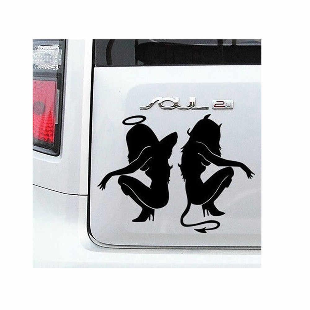 ホットクラシックセクシーな女の子ステッカー怒り Devil 美容 16*11 センチメートル白のためのビッグフィルムジョーカーチューニングに面白い rc カーフード