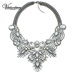 2016 Luxury Color Crystal Bridal Collar Necklace S & Pendants Fashion Women Rhinestone Wedding Maxi Statement Necklace