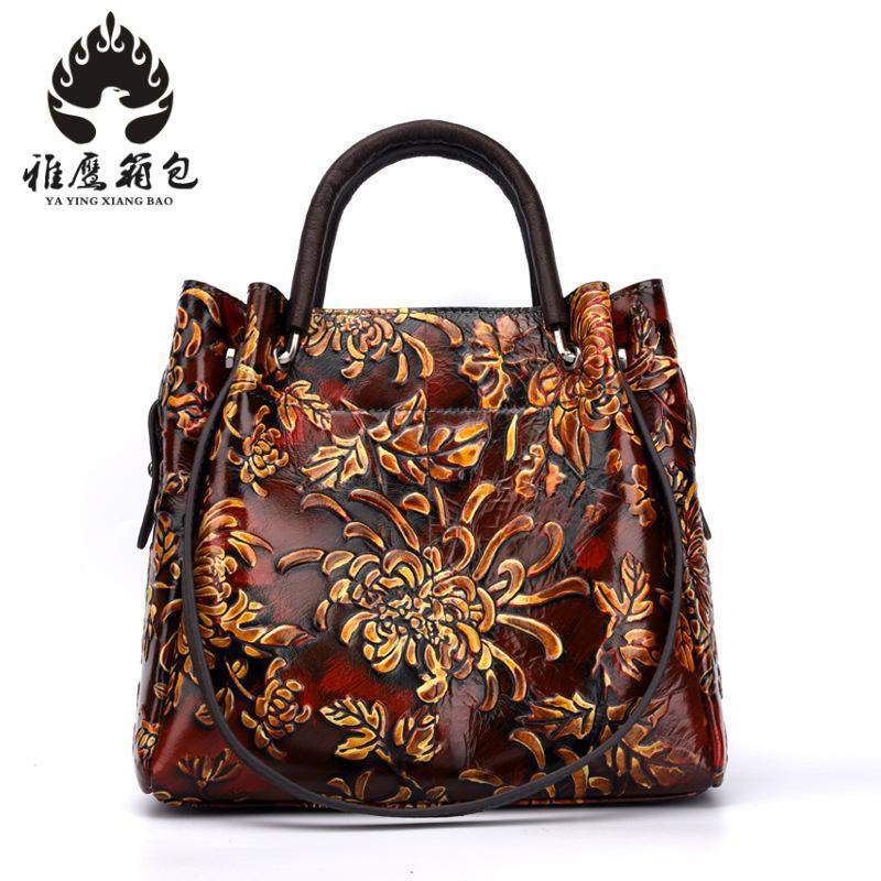 New 2018 Genuine Leather Women Bag Handbag Vintage Fashion Women Messenger Bags Leisure Contracted Joker Designer Crossbody Bags цены онлайн