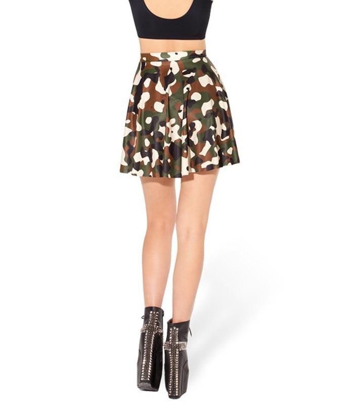 8722a82c0f64e2 New 2015 Summer Skirts Womens Commando Skater Skirt High Waist Skirt  Fashion Mini Skirts Womens K408-in Skirts from Women's Clothing on  Aliexpress.com ...