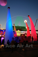 Great Outdoor Highly LED Inflatable Cone For Event Decorations 7m H