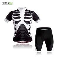 WOSAWE Verão Ciclismo jerseys + shorts set 3D gel pad Quick Dry maillot ciclismo Roupas de Ciclismo