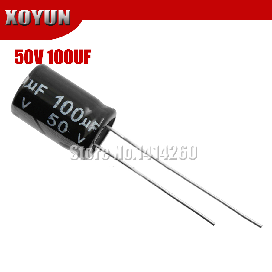 50pcs/lot Higt Quality 50V100UF 8*12mm 100UF 50V 8*12 Electrolytic Capacitor