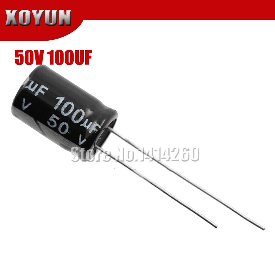 50pcs/lot Higt Quality 50V100UF 8*12mm 100UF 50V 8*12 Electrolytic Capacitor