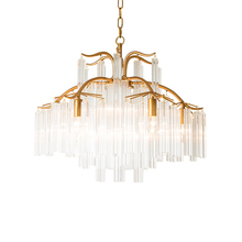 Nordic Kitchen Fixtures Crystal LED Pendant Lamps Living Room Hotel Lighting Hanging Decorative Glass Avize