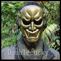 Resin Japanese Buddhist Evil Oni Noh Hannya Mask Cosplay Scary Mask CS Fancy Costume Masquerade Party Terror Halloween Cosplay