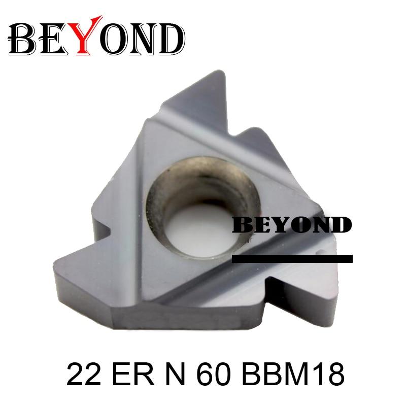 22 ER N 60 BBM18 Indexable Tungsten Carbide Threading Lathe Inserts for Threaded Lathe Holder thread
