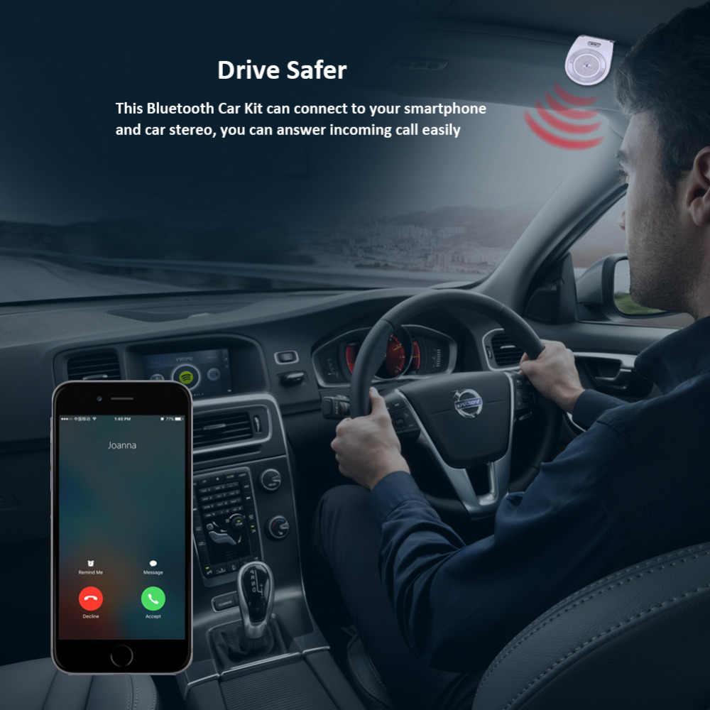 Nowy samochód zestaw Bluetooth T821 bezobsługowy głośnik telefon wsparcie Bluetooth 4.1 EDR bezprzewodowy zestaw samochodowy Mini daszek może nawiązywać połączenia bez użycia rąk