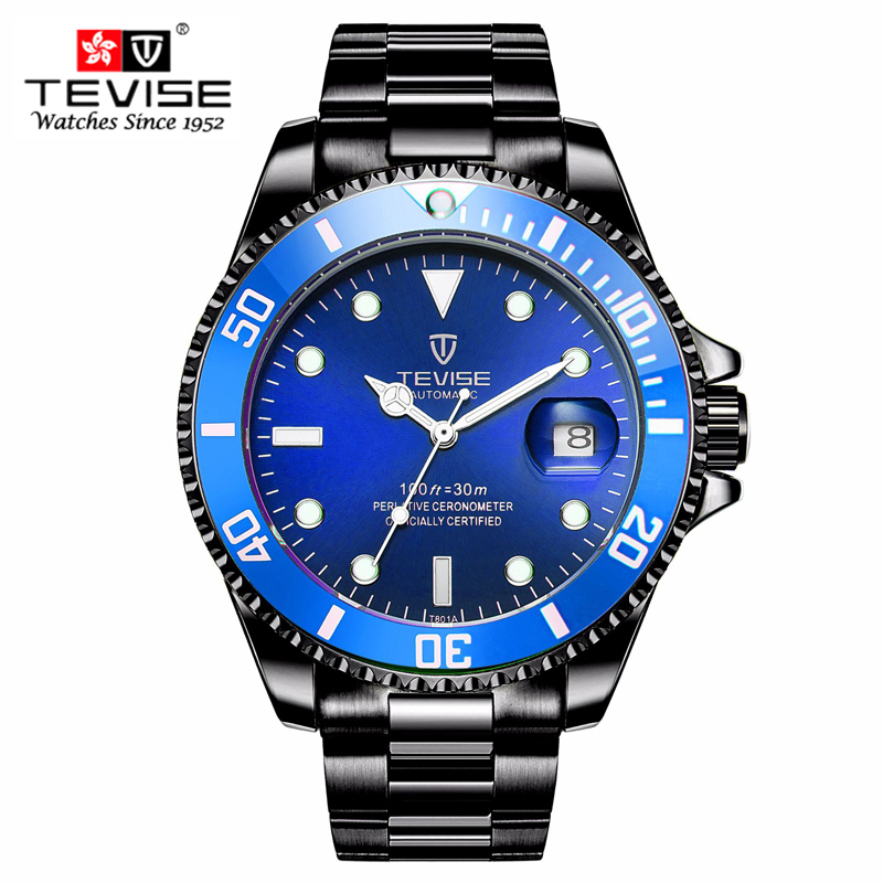 e7e52602e70 TEVISE Automatic Mechanical Watches Men watch Relogio Automatico Masculino  Waterproof Sport Business Wristwatch Male t801-in Mechanical Watches from  Watches ...
