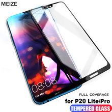 MEIZE Huawei P20 lite glass tempered full cover Pro Screen Protector hawei Protective