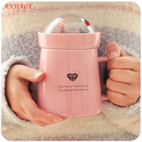 ANJIALT Creative Caneca Coffee Mug Cartoon Animal Micro Landscape Milk Mug 400ml Beer Tea Cup Office Ceramic Cups Beauty Gifts