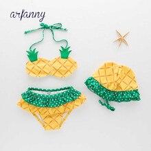 Peuter Baby Meisje Ananas Badmode Badpak Bikini Outfit Strand Kleding