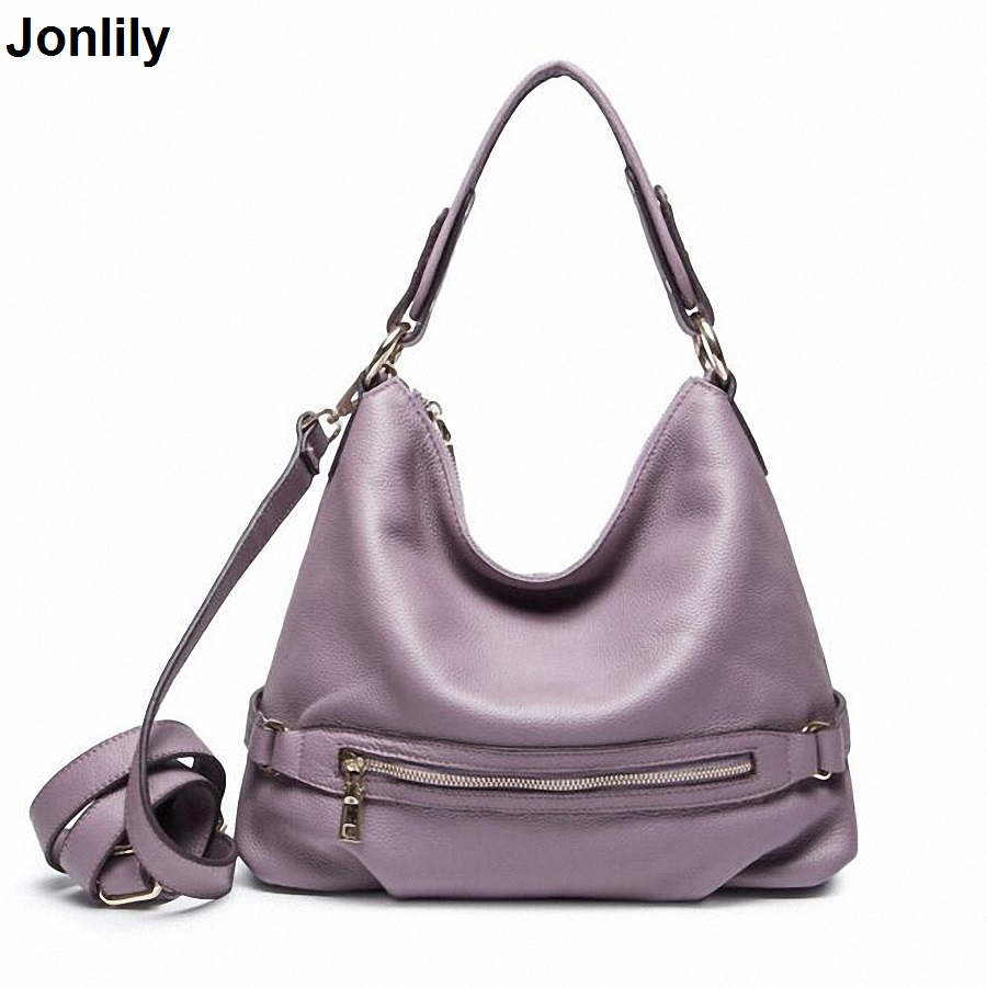 Casual Tote Women Shoulder Bags Genuine Leather Women Designer Brand Female Handbags Bucket Crossbody Bags LI-1715 2017 new female genuine leather handbags first layer of cowhide fashion simple women shoulder messenger bags bucket bags