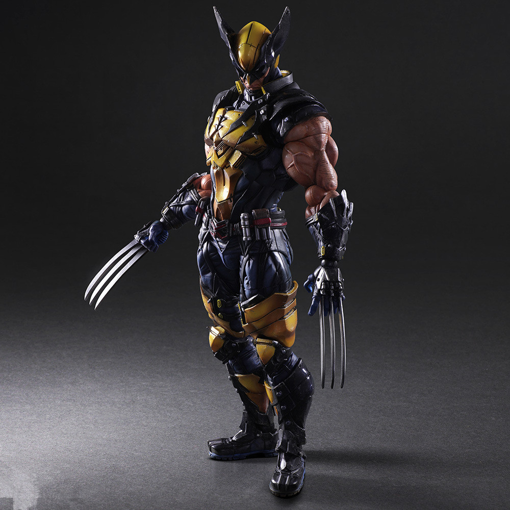 J Ghee Play Arts Kai X men Logan PVC Action Figure Decoration Collectible Model Toy 26cm Brinquedos Christmas Gift new hot christmas gift 21inch 52cm bearbrick be rbrick fashion toy pvc action figure collectible model toy decoration