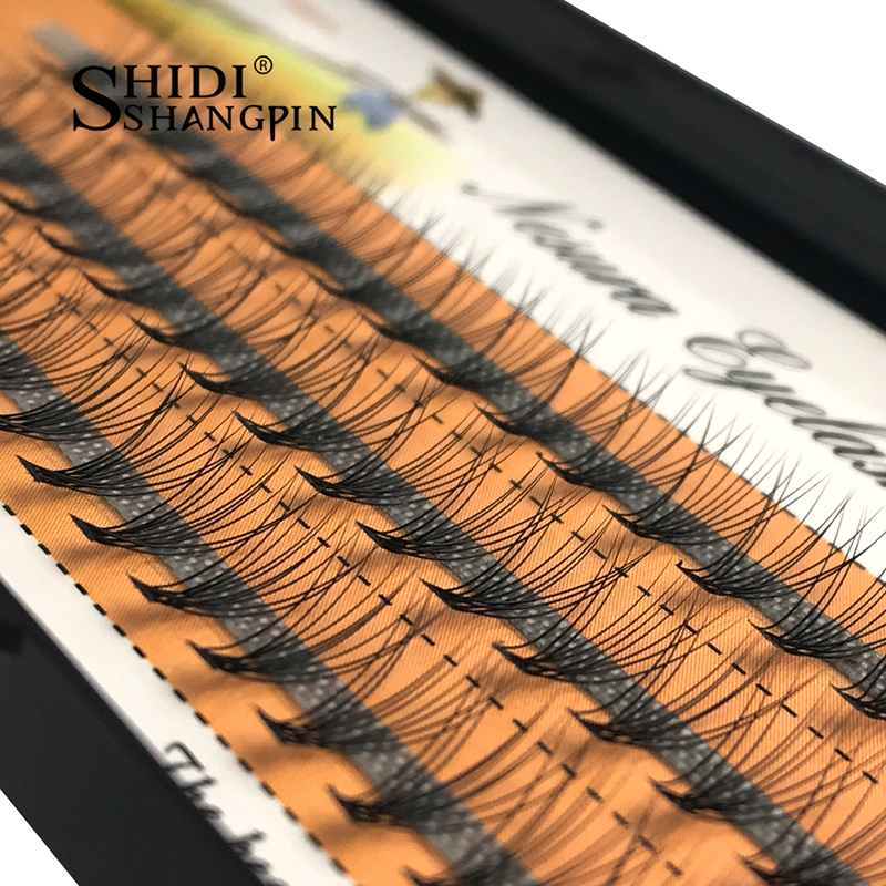 60 de bucăți / Tavă Individuală Lashes Gene 1 PC 0.07 C Curl Fals Genele de altoire Mink Eyelash Extension Makeup 8-10-12