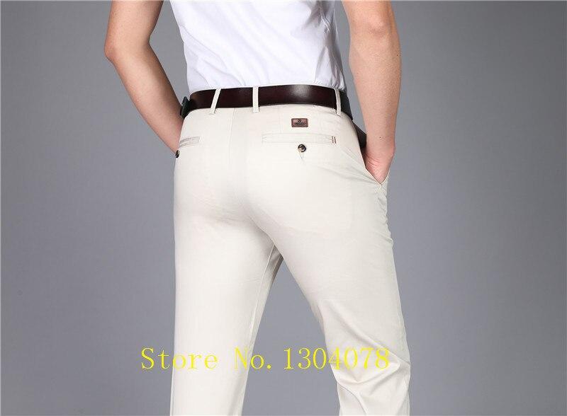 Новый Повседневное брюки Для мужчин, хлопок Прямо Бизнес брюки высокое качество костюм pantalon hombre брюки-карго Брюки Для мужчин