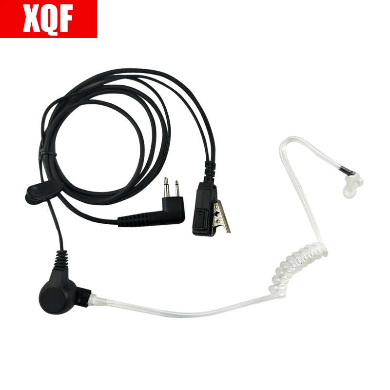 XQF 2-pin VOX PTT Acoustic Tube Headset Earpiece For Motorola CP Series: CP88, CP100, CP150, CP200 Radio