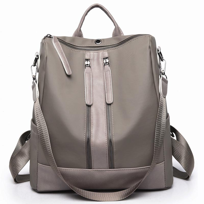 2018 New Fashion Women Backpack shoulder Canvas Nylon Oxford Spinning Multifunction Big Bag Famous Designer Chain Bag