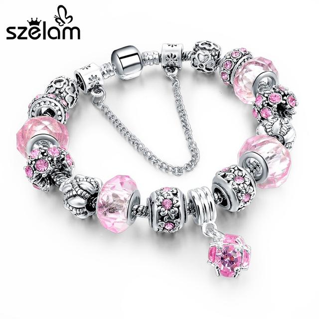 Crystal Charm Bracelets