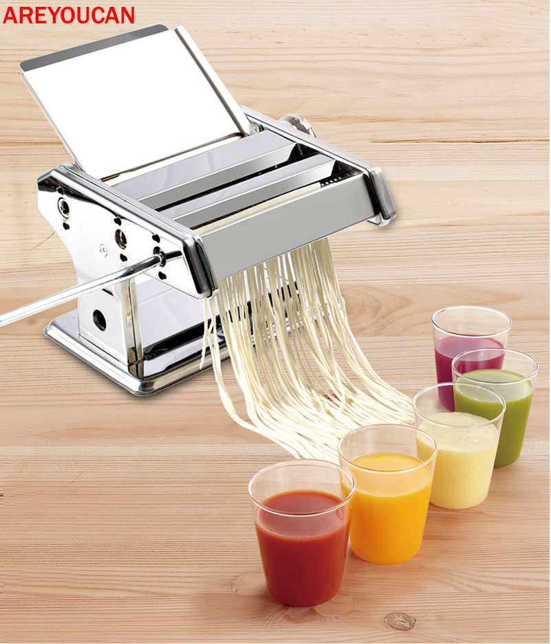 0.5-3mm Manual Cutting Thicknesses Pasta Membuat Roller Machine Dough Fresh Mie Membuat Kitchen Removable press Mie Maker