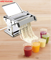 0.5 3mm Manual Cutting Thicknesses Pasta Make Roller Machine Dough Fresh Noodle Making Kitchen Removable press Noodle Maker