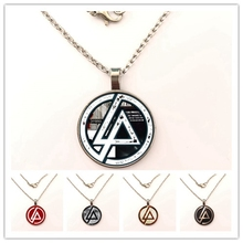 Hot Fashion Linkin Park logo Pendant necklace Linkin Park Jewelry Glass Dome Pendant necklace Men and children party gifts