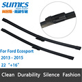 "Wiper blades for Ford Ecosport (2013-2015) 22""+16"" fit top lock type wiper arms only"