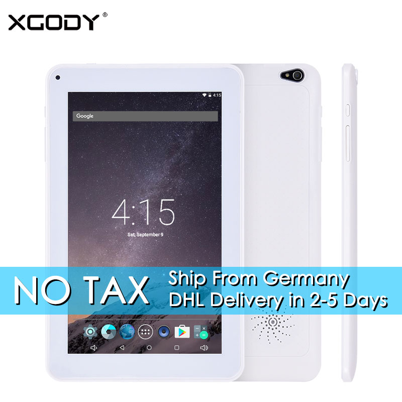 NO TAX DHL Delivery XGODY T901 Android Tablet PC 9 Inch AllWinner A33 Quad Core 1GB RAM+8GB ROM 9 Tablets Android 5.1 OTG WiFi yuntab7 inch quad core q88 1 5ghz android 4 4 tablet pc q88 allwinner a33 512mb 8gb capacitive screen 1024x600 dual camera wifi