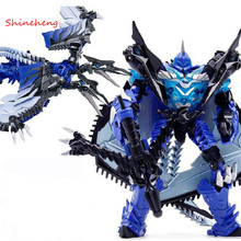 SHINEHENG New Arrival Deformation Movie 4 Mount Strafe Robot Action Figure Toy ABS&Alloy Model Birthday Gift for Boys