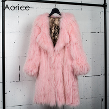CT7007 knit knitted 100% Real raccoon fur coat jacket with collar overcoat Russian women's genuine fur coat long style