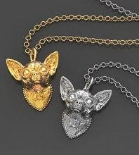 Летнее модное мини ожерелье чихуахуа металлическая подвеска