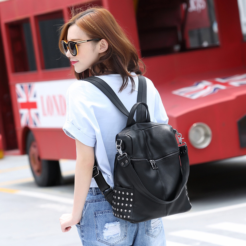 100 Genuine leather Women Backpack Designer Female Backpacks Students School Bags Fashion Genuine Leather Travel Backpack