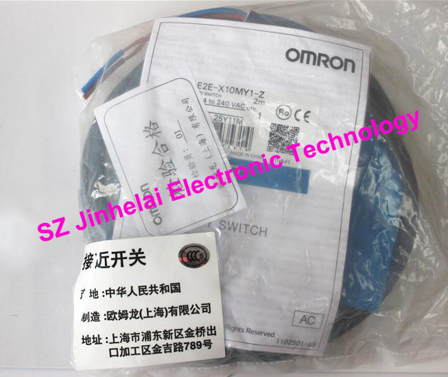 100% New and original  E2E-X10MY1-Z,  E2E-X18MY1-Z  OMRON  Proximity sensor,Proximity switch, 2M   24-240VAC [zob] new original omron shanghai omron proximity switch e2e x18me1 2m 2pcs lot