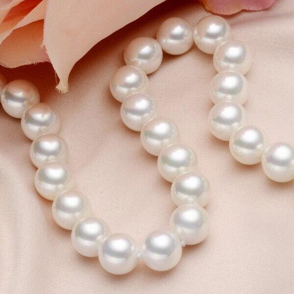 Eternal parola Regalo di cerimonia nuziale Delle Donne 925 Sterling Silver madreperla reale perla regalo naturale di alto mare collana di perle collana si - 2