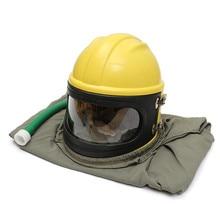 Прочного Высококачественного ПВХ-Материала ABS Песок Взрыв Капот Протектор Sandblast Шлем Пескоструйная Обработка + Труба + Плащ + 6 Линзы Бесплатная Доставка доставка