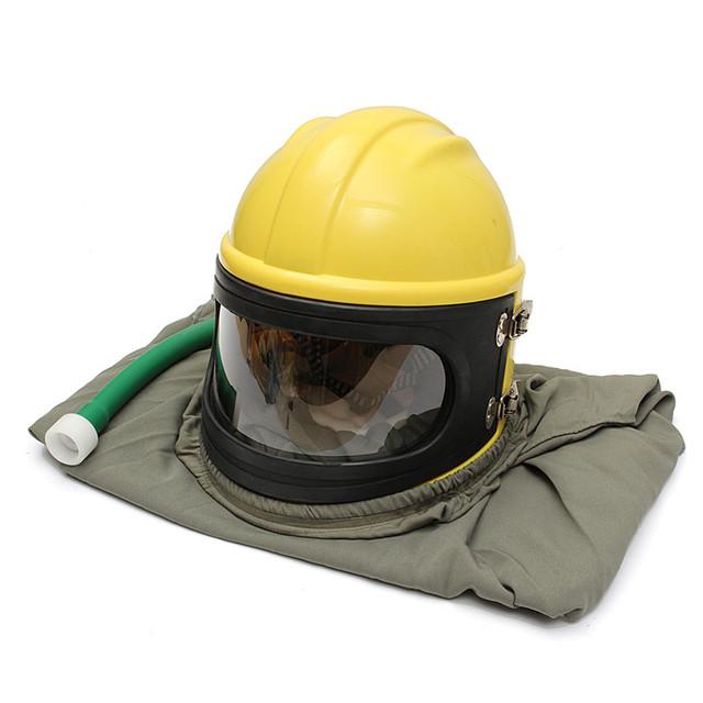 Qualidade PVC ABS Material durável Capa Protetor Explosão Da Areia Jateamento Jateamento Capacete + Tubo + Manto + 6 Lentes Livre grátis