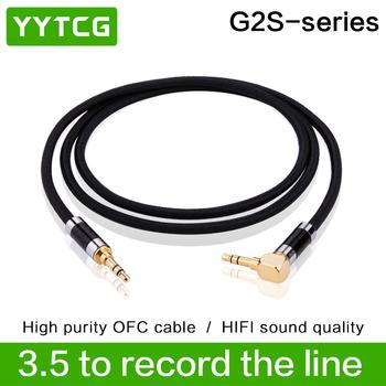 YYTCG G2S Hifi 3 5mm przewód AUX wysokiej jakości srebrny pozłacane 3 5mm mężczyzn do 3 5mm męski kabel Audio tanie i dobre opinie Mężczyzna Mężczyzna NONE G2S-AUX CN (pochodzenie) Kable AUX Pakiet 1 PLASTIKOWA TOREBKA PLECIONY Brak Do projektora