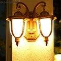 Европейский водонепроницаемый настенный светильник LED литье под давлением алюминиевое стекло наружное настенное бра освещение Сад Балкон ...