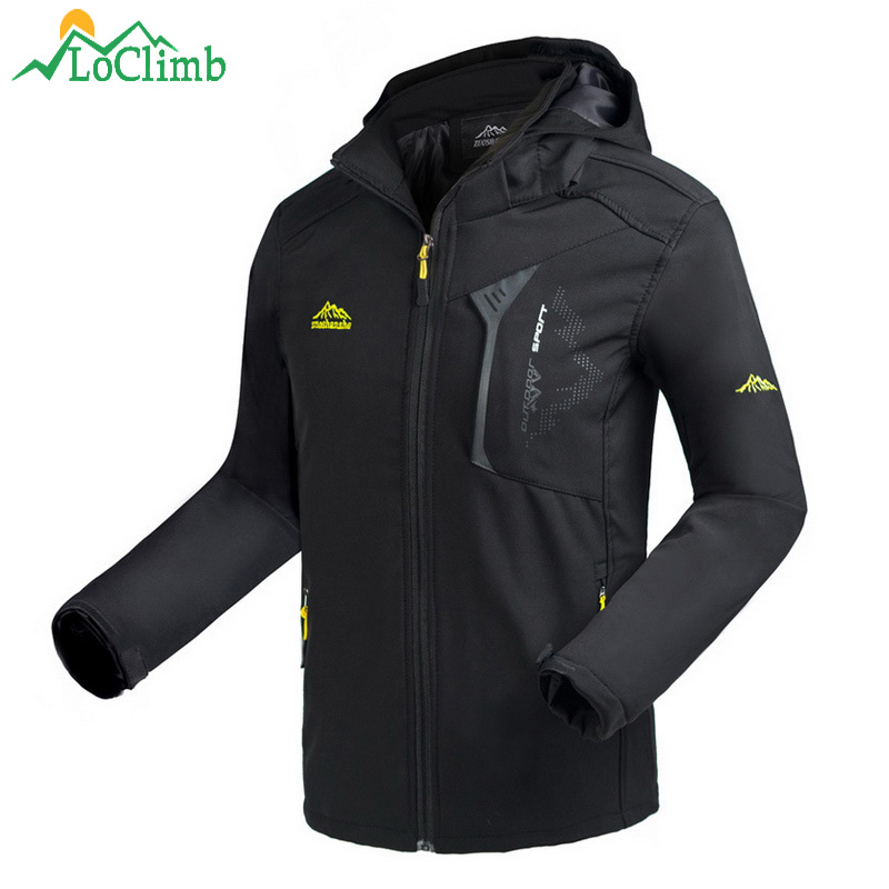 LoClimb Mens Oudoor Softshell Jacket Men Spring/Autumn Coat Climbing/Trekking Windbreakers Waterproof Hiking Jackets Man AM372LoClimb Mens Oudoor Softshell Jacket Men Spring/Autumn Coat Climbing/Trekking Windbreakers Waterproof Hiking Jackets Man AM372