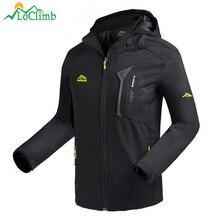 LoClimb для мужчин's Oudoor флисовая куртка мужчин весна/осень пальто восхождение/треккинг ветровки непромокаемые походные куртки человек AM372
