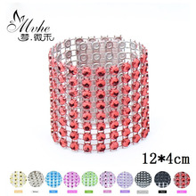 10PCS Diamond Napkin Rings Rhinestone Holders Wedding Banquet party Decoration Dinner Table Chair Covers curtain Buckle