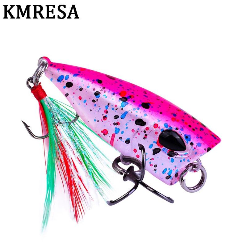 4.3cm//4g mini popper lure trout lures ultralight fishing lure topwaterCrankbait=