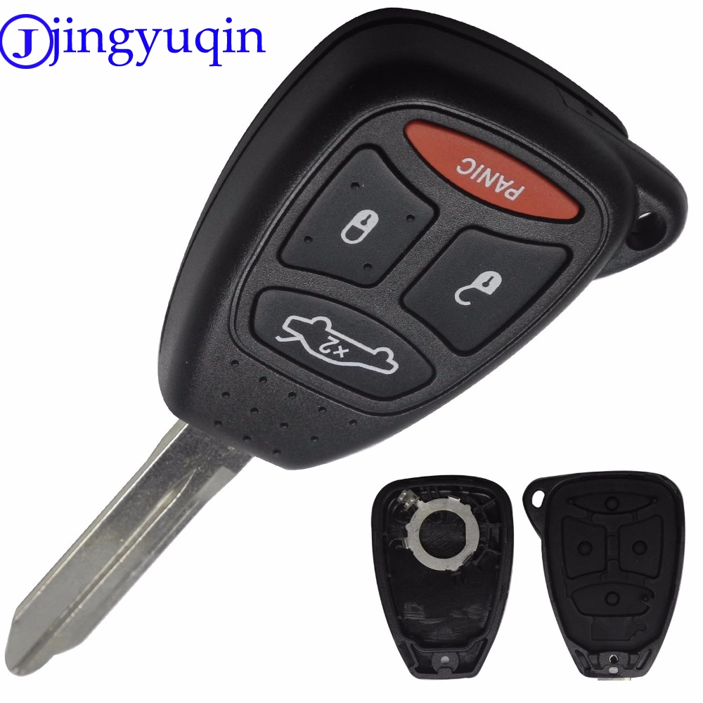 jingyuqin 4 Buttons Remote Car Key Shell Cover For Chrysler 300 Aspen For Dodge Dakota Durango For Jeep Grand Cherokee Commander spiral cable sub assy for jeep wrangler patriot grand cherokee commander dodge nitro caliber chrysler 200 sebring 5156106ab