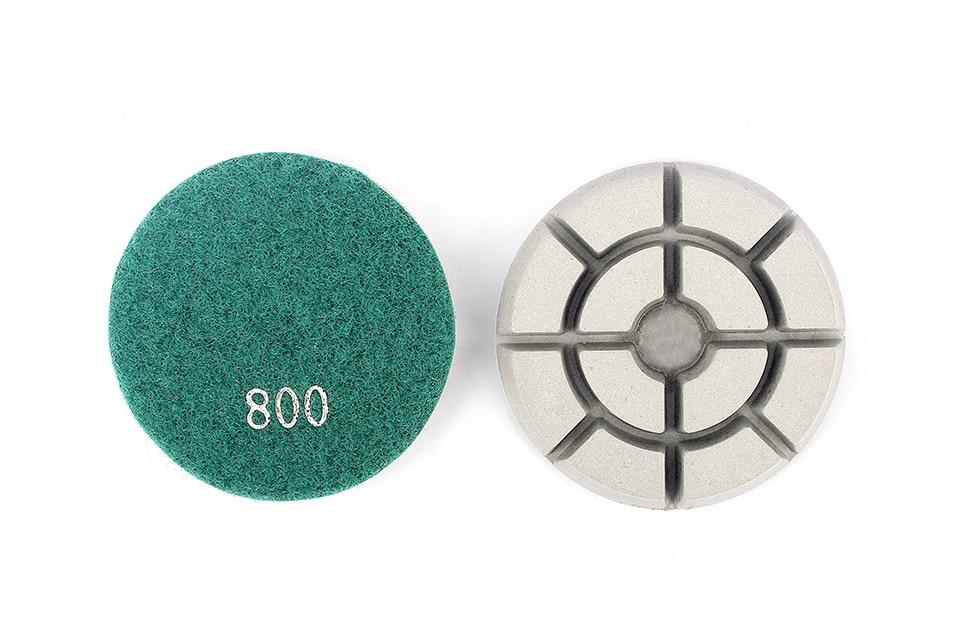 "Diamond Floor Polishing Pads Dry Wet Use Marble Grinding Disc Stone Granite Abrasive Tool 3""/4"" Diamond Polish - 7 Pcs/Set"