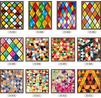 Custom stained glass stickers for windows translucent church stained glass windows doors wardrobe foil stickers 60x130cm