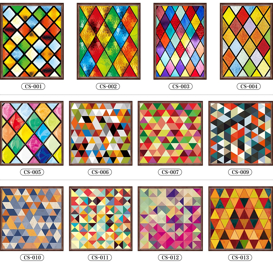 Custom Stained Glass Stickers For Windows Translucent Church Stained