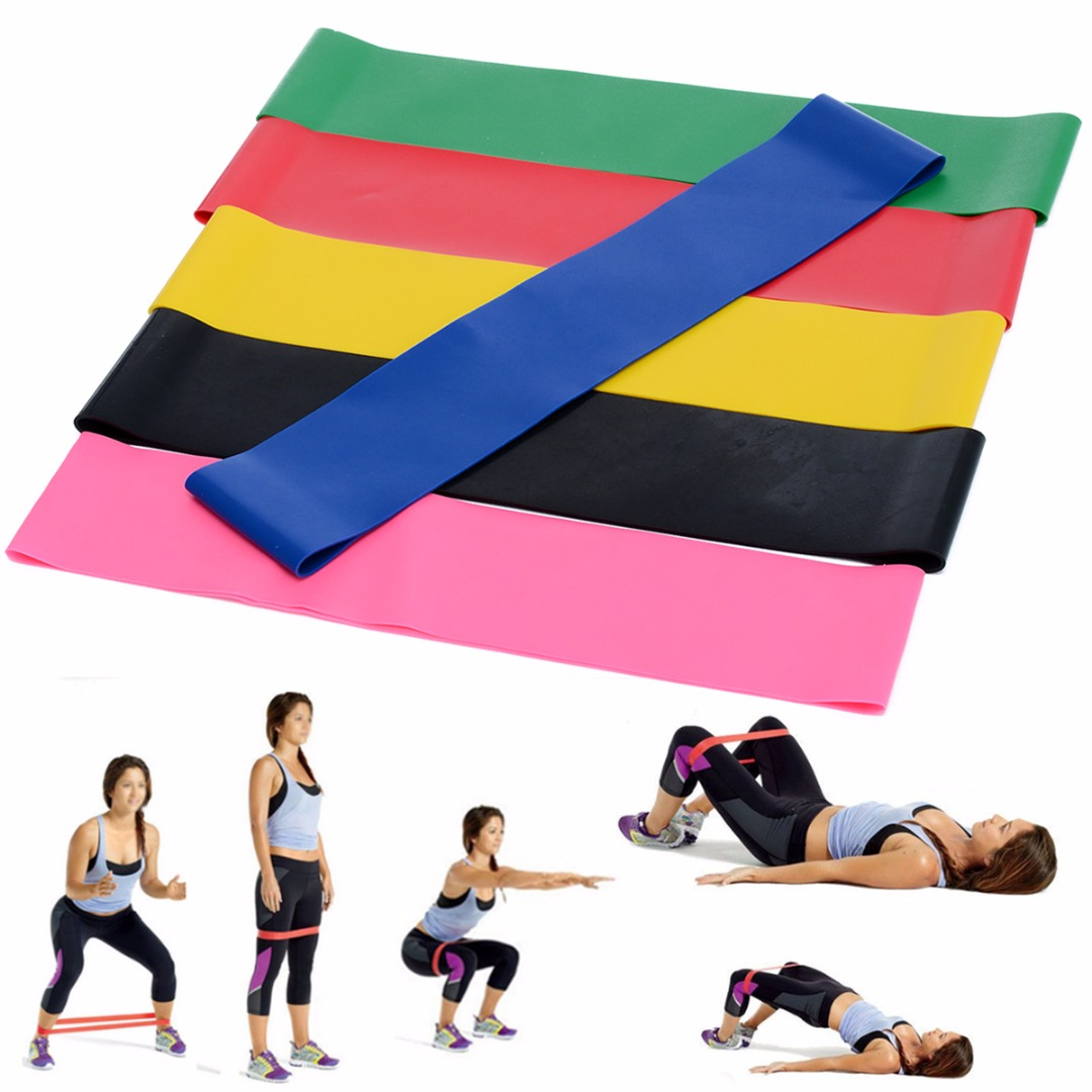 6Pcs/Set Elastic Fitness Yoga Loop Band Natural Latex Tension Resistance Pull Rope Crossfit Body Ankle Leg Exercise Training leajoy gm 006 5pcs set tension resistance fitness band