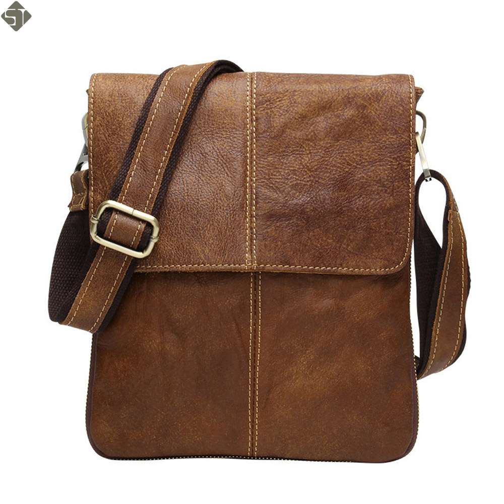 100% Guarantee Genuine Leather Bag High quality Natural Cowskin men messenger bags Vintage shoulder crossbody bag New 2016 2016 new 100% guarantee genuine leather men bag high quality natural cowskin men messenger bags vintage shoulder crossbody bag