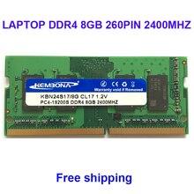 Kembona メモリ ram ノートパソコン DDR4 8 ギガバイト 2400 mhz 2666 mhz 8 グラムノートブック sodimm ラムモジュール 260PIN